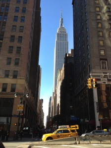 Just blocks from the office, the Empire state makes an excellent backdrop to my usual walks.